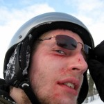 This is how I looked after the crash, with all the blood wiped off.