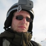 This is how I looked with the ski cam mounted on my head.
