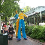 These two men on stilts stalked us for a while!