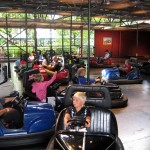 Bumper cars is great, especially when you gang up on an unsuspecting stranger, locking them in a corner... :x