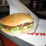 Late night HUGE burger, it was delicious!