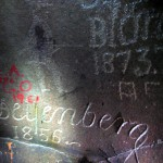 I wonder how long it took people to do so nice lettering... in rock! And I find those dates just a little spooky.