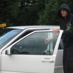 Here I am sneaking a drive while undercover... the day I got my license.