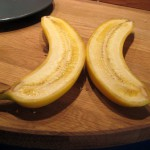 I was asked to split a banana in halves. Nobody specified in which way!