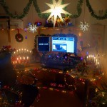 This is the final result, though I submitted an animated gif to better show the lights.