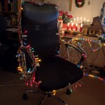 The light chains were much longer than I thought, so I had one left to use exclusively for my chair!