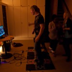 Gaming evening! A quite small room, but people circulated :) Quite blurry, I was stressed out and ran around a lot!