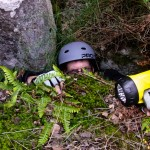 This is me, exiting an apparent hole in the ground. I am amazed we got out at all...