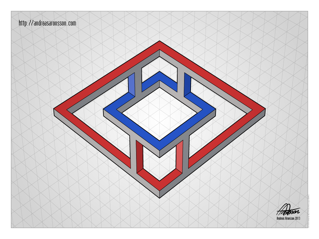 Optical Illusions Square Impossible Figu...